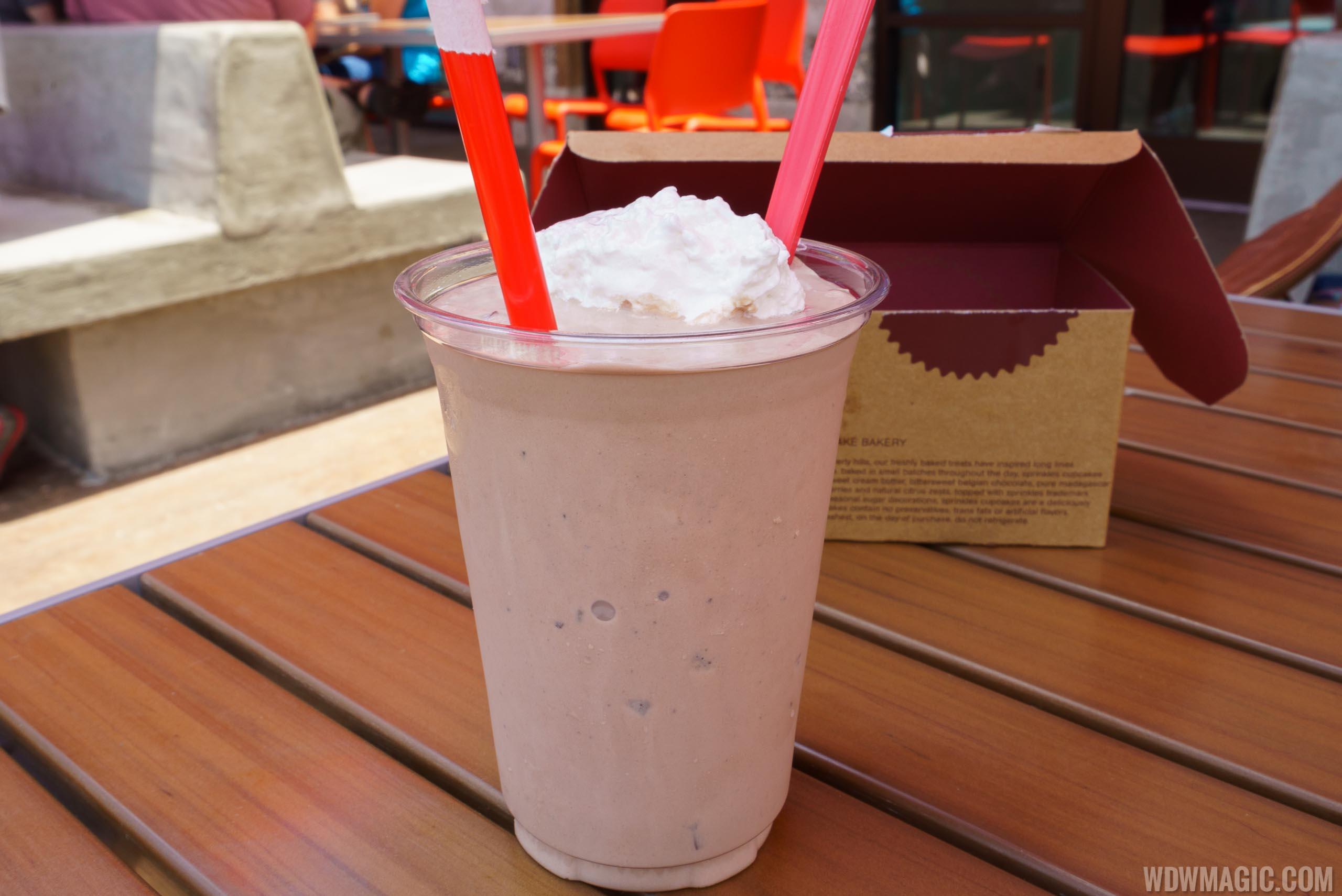 Sprinkles chocolate milkshake