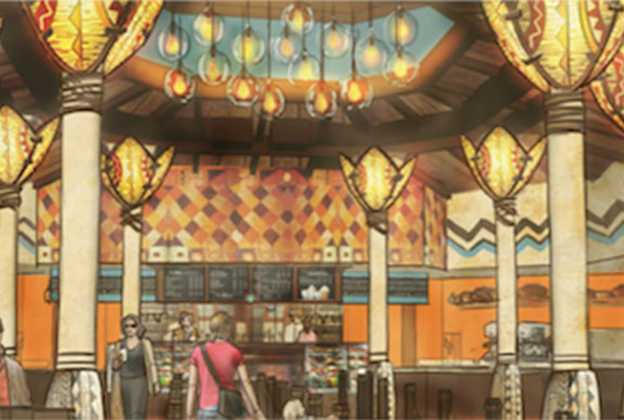 Starbucks Disney's Animal Kingdom interior concept art