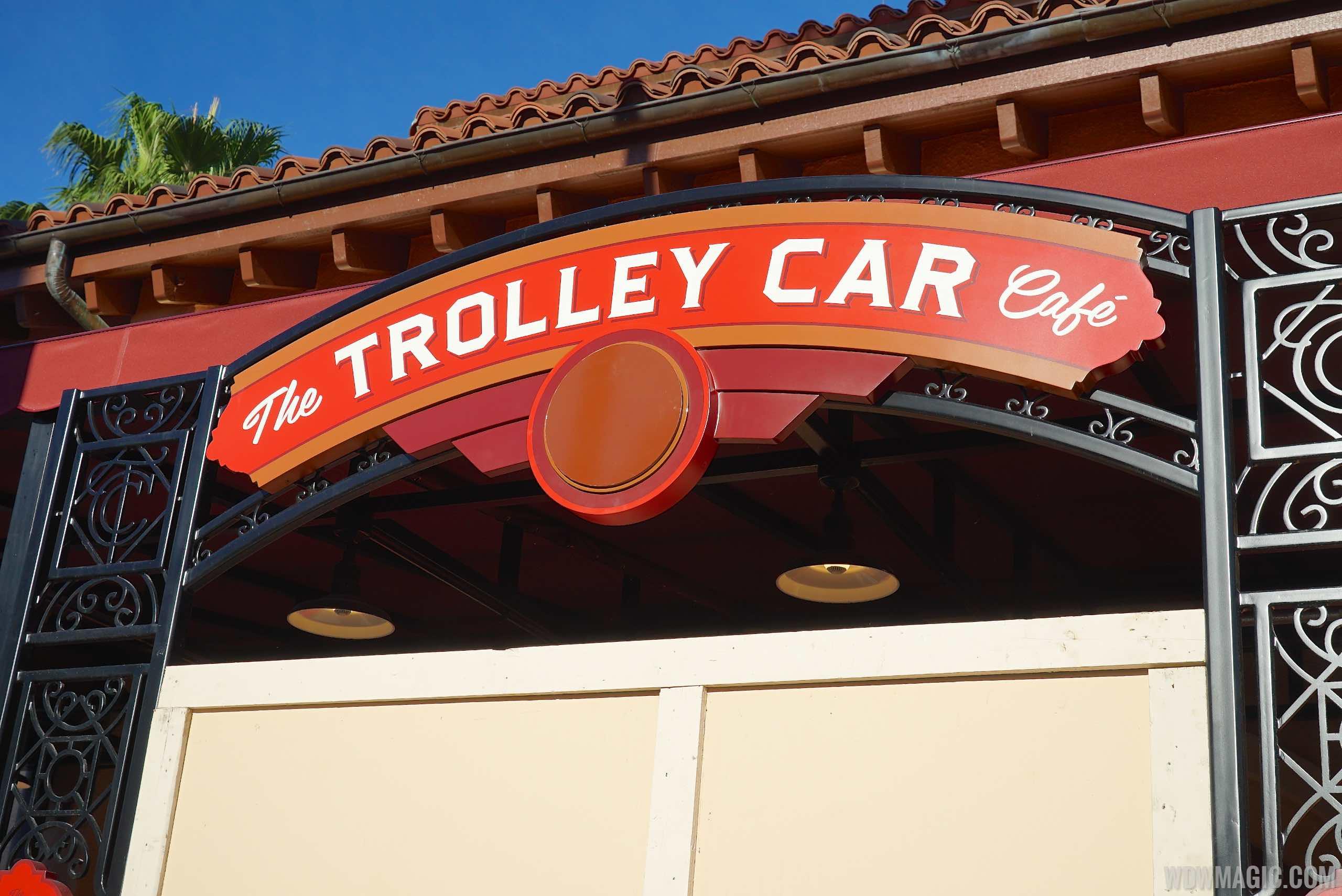 Trolley Car Cafe signage