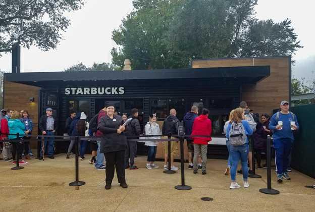 Starbucks Traveler's Café open