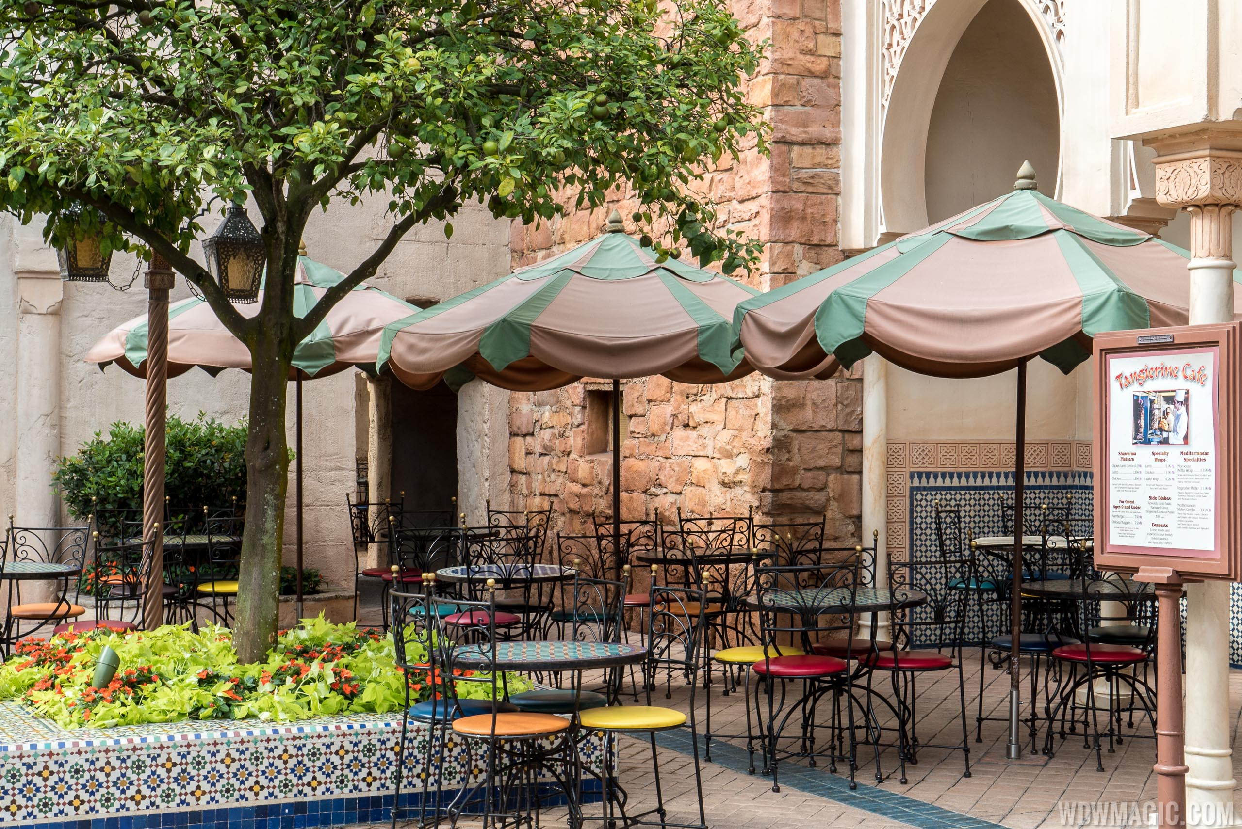 Tangierine Cafe outdoor seating
