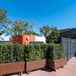 Taste Track Burgers and Fries kiosk installation