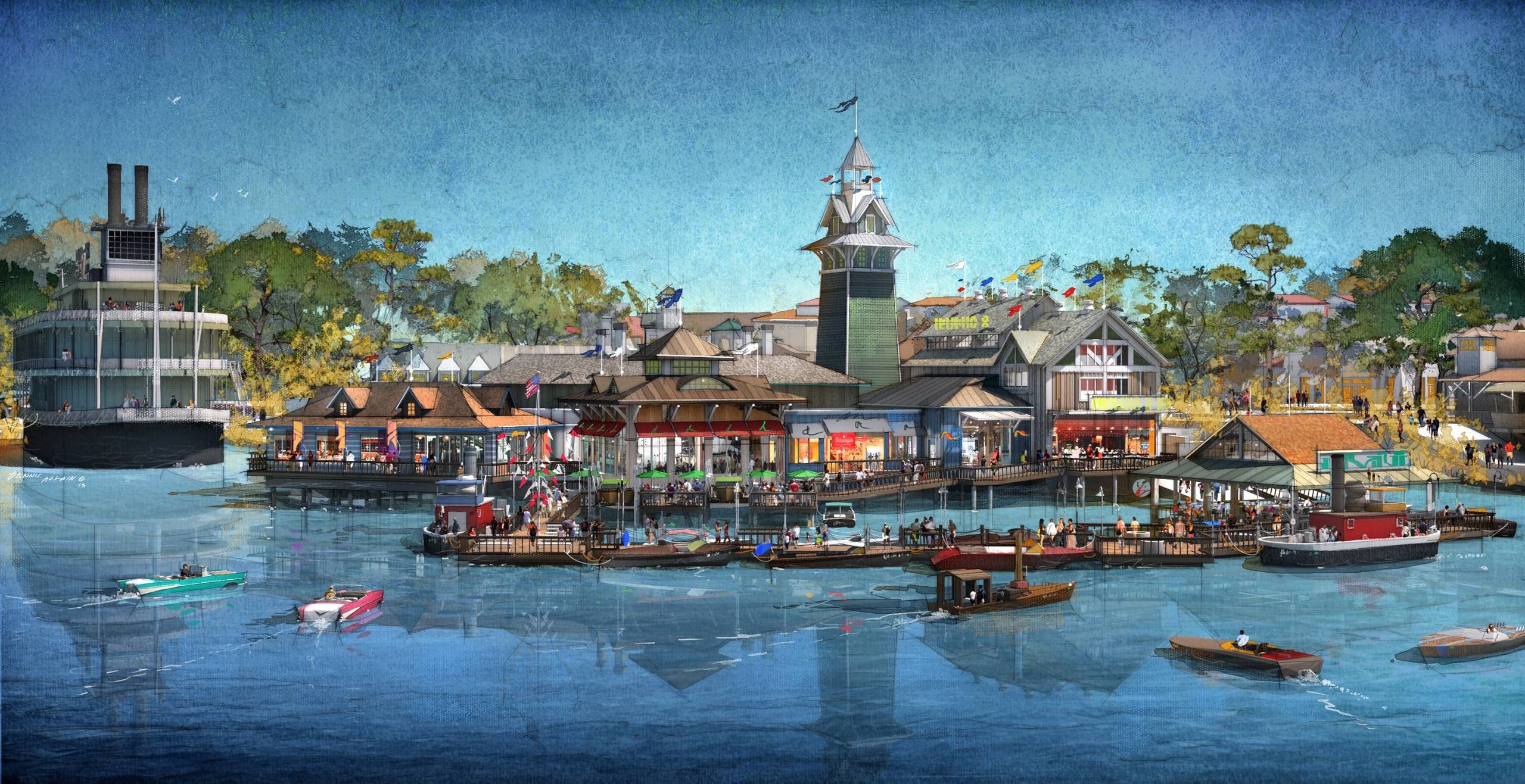 The BOATHOUSE concept art - Water view