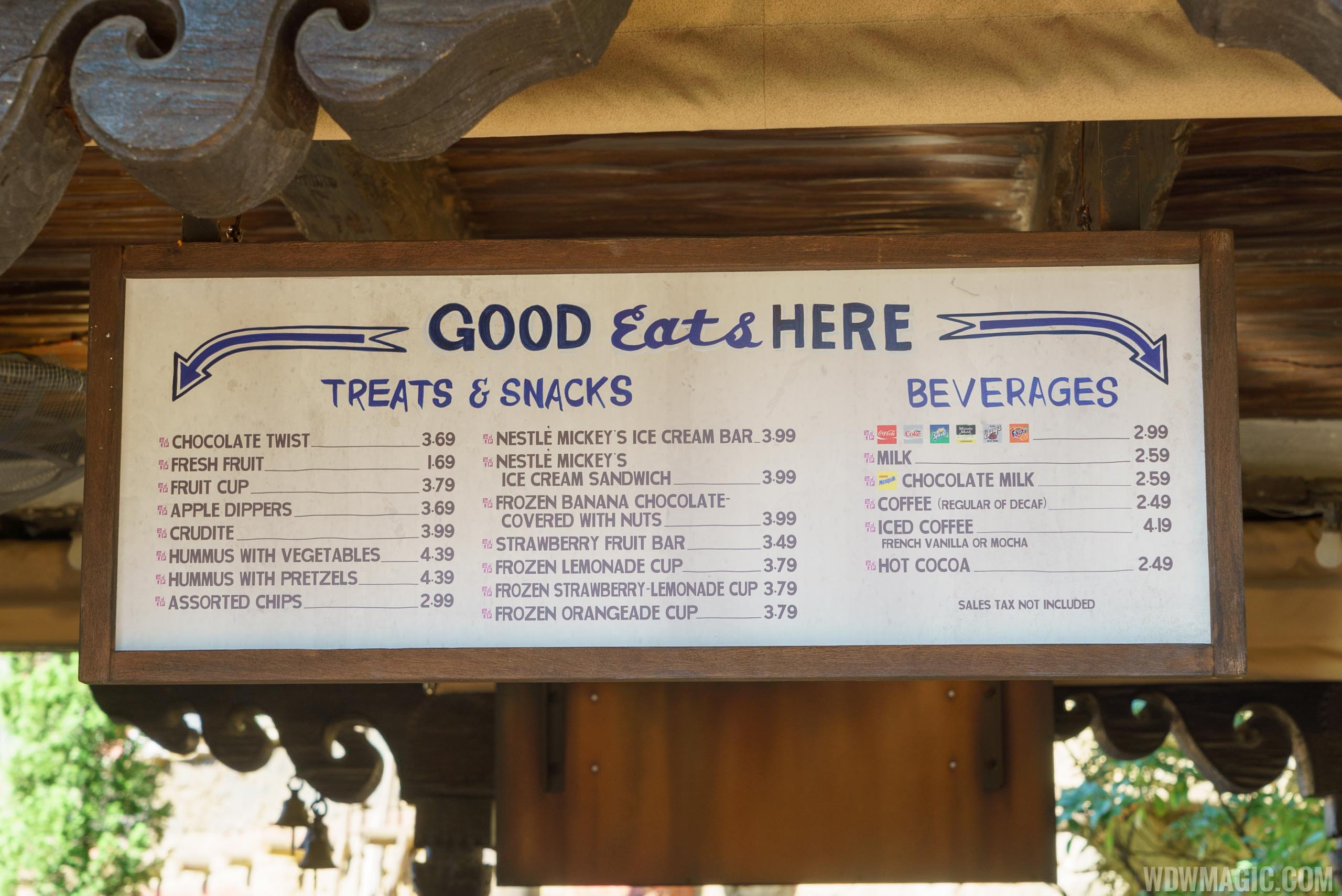 Thirsty River Bar and Trek Snacks food menu