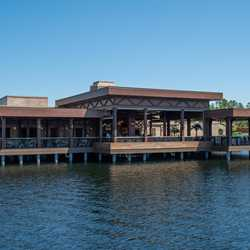 Three Bridges Bar and Grill and walkways