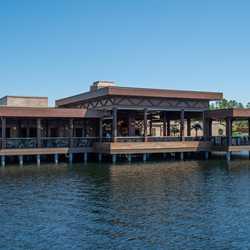 Three Bridges Bar and Grill and walkways
