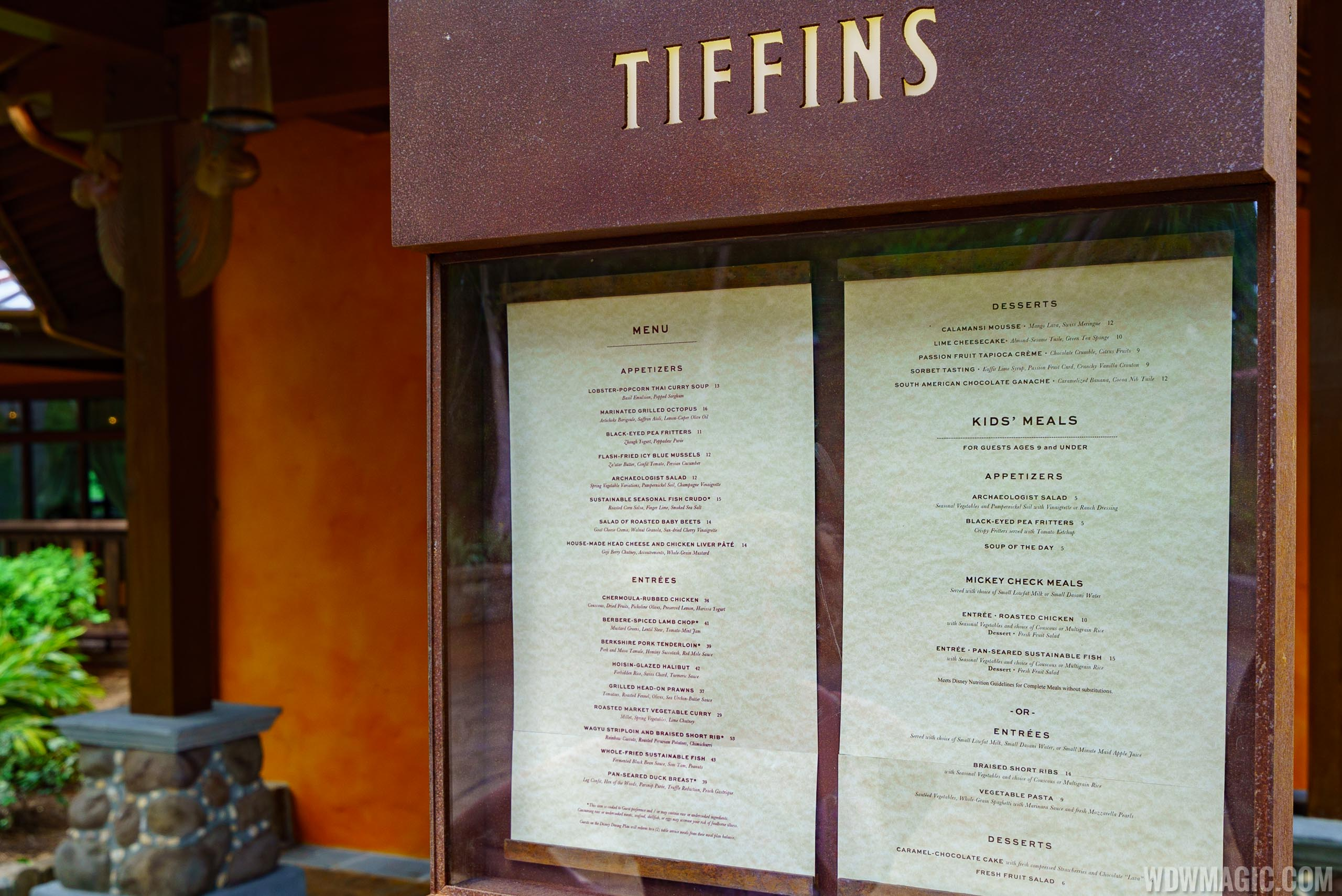 Tiffins - Menu board