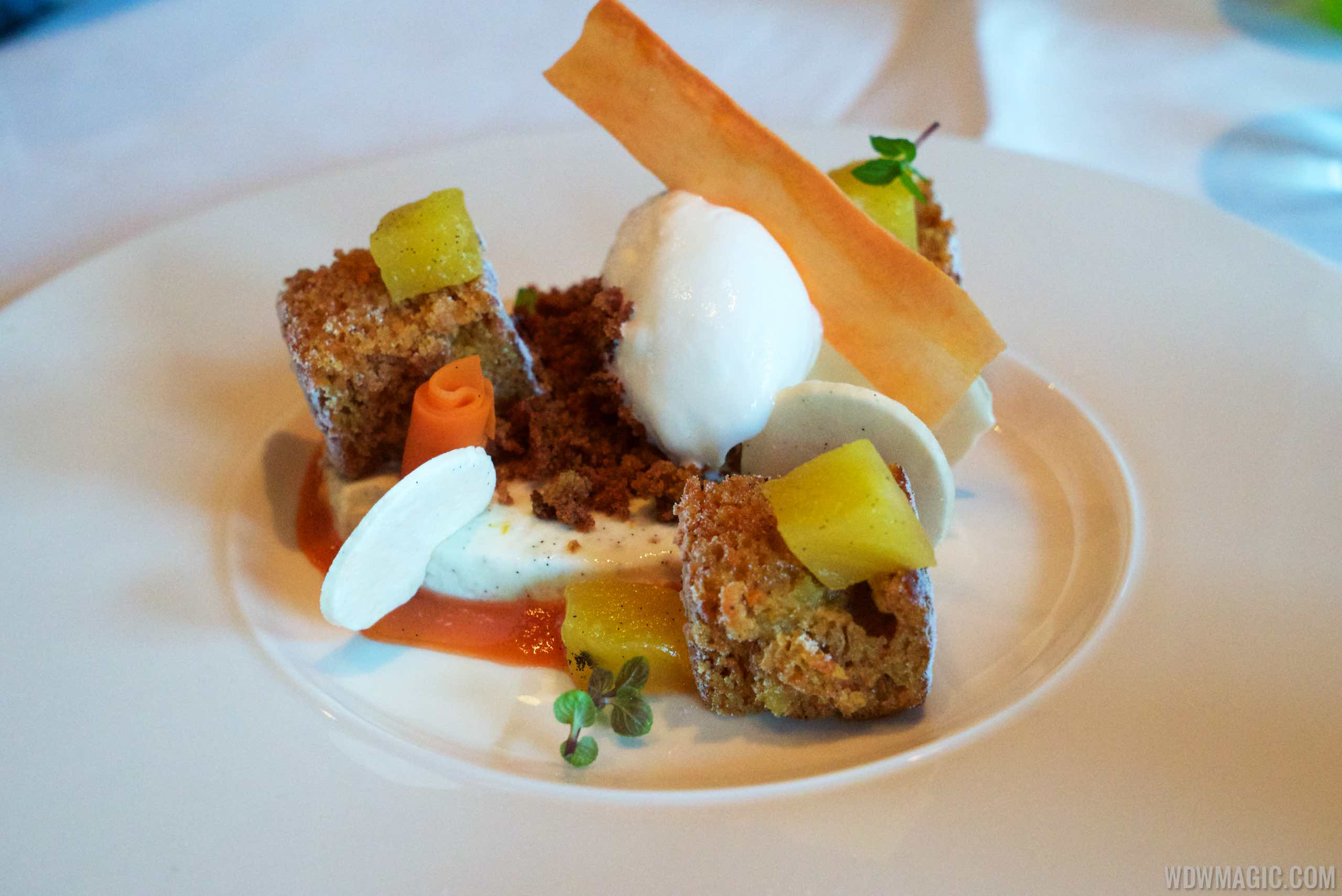 Todd English's bluezoo food - Carrot Cake dessert