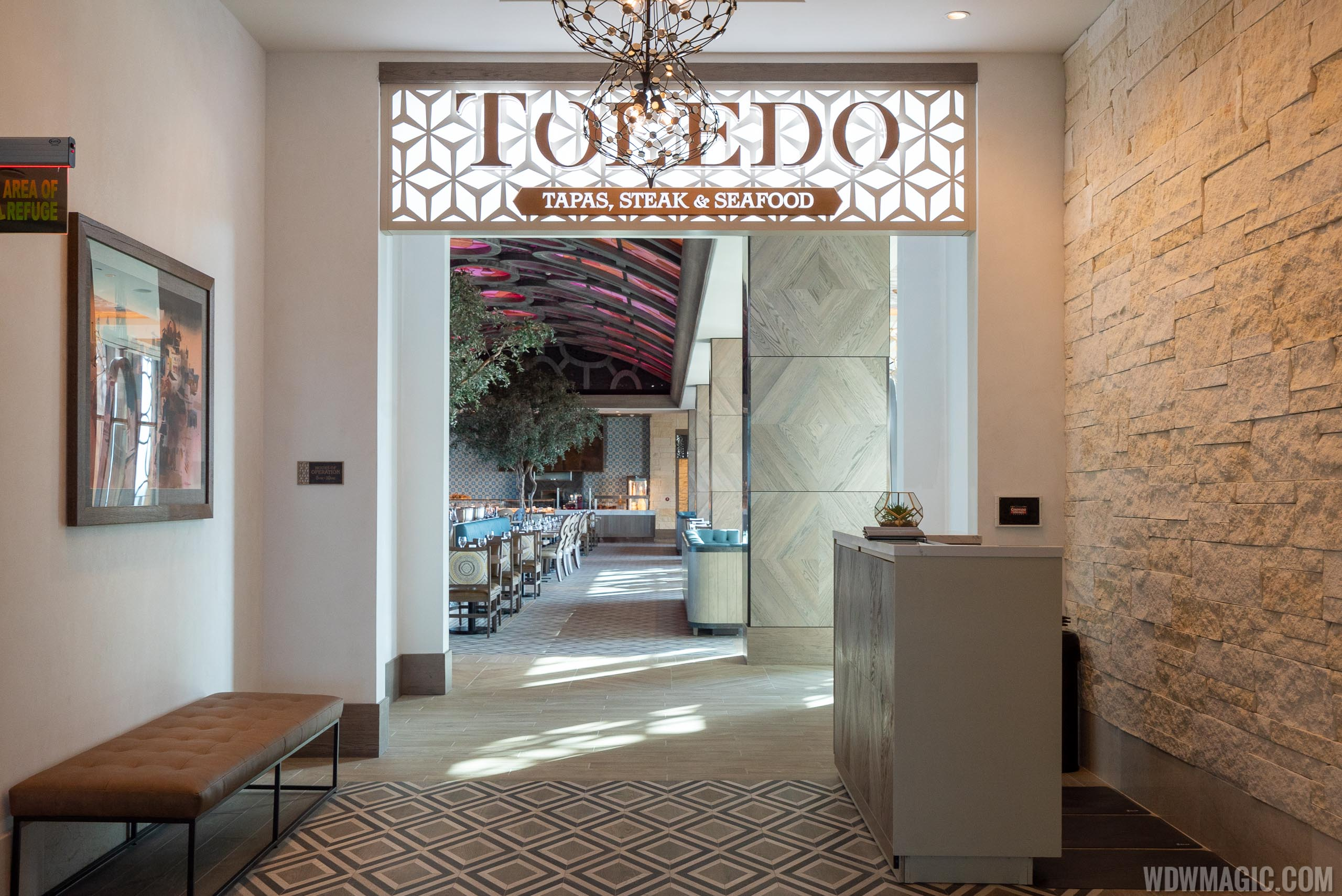Check-in at podiums will no longer be required at table service restaurants