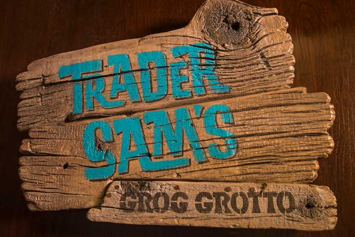 Trader Sam's Grog Grotto food and drink