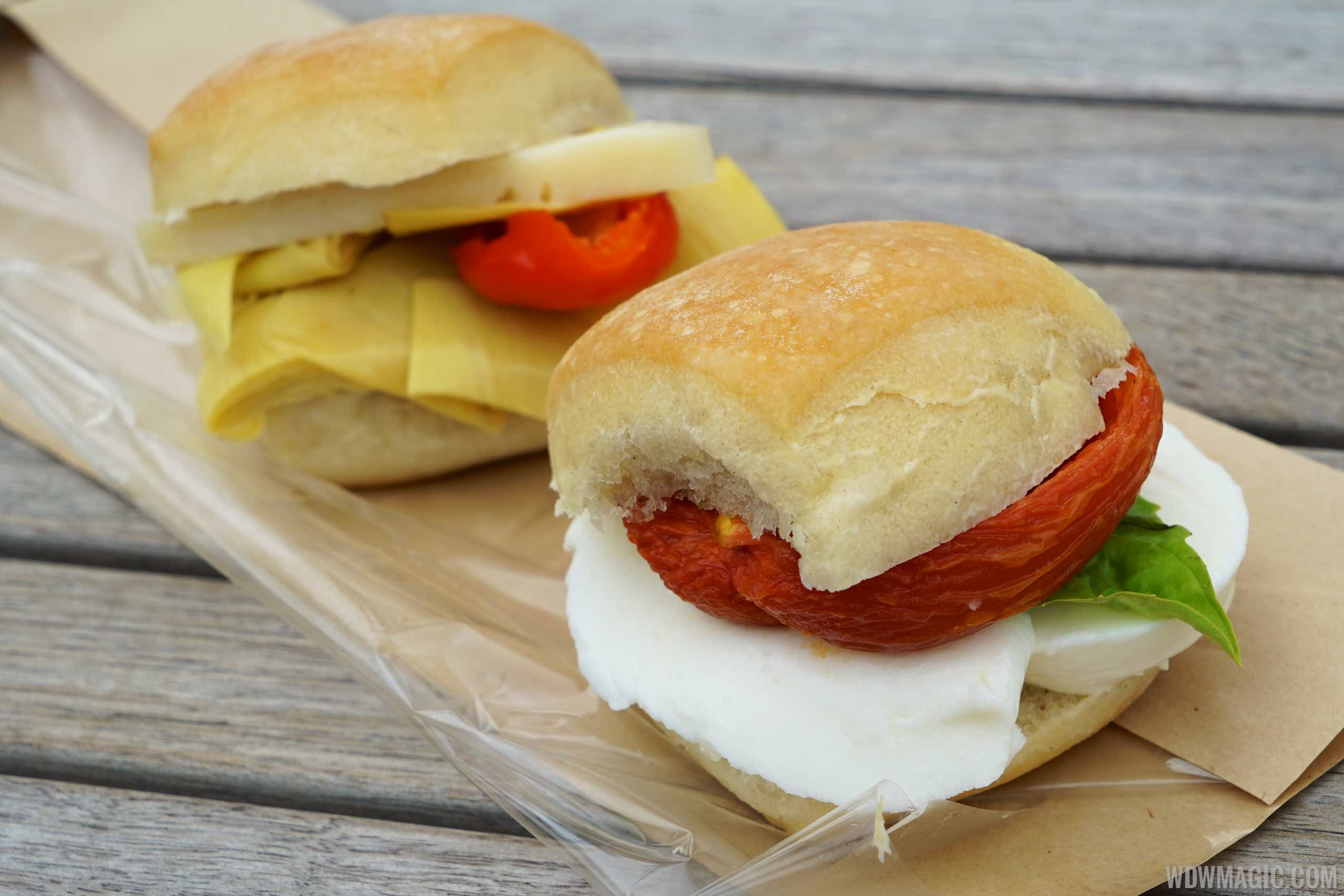 Vivoli Gelateria - Panini Mozzarella Tomato Basil