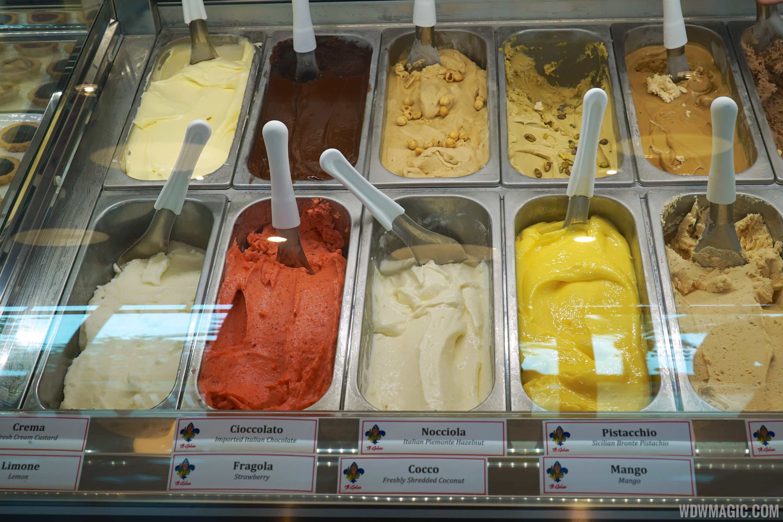 Vivoli Gelateria - Gelato Display