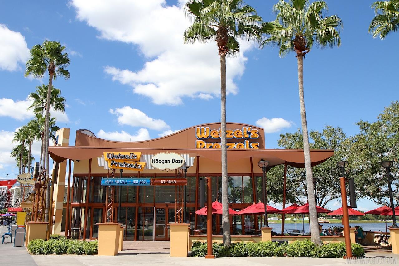 Wetzels Pretzels location at Downtown Disney West Side