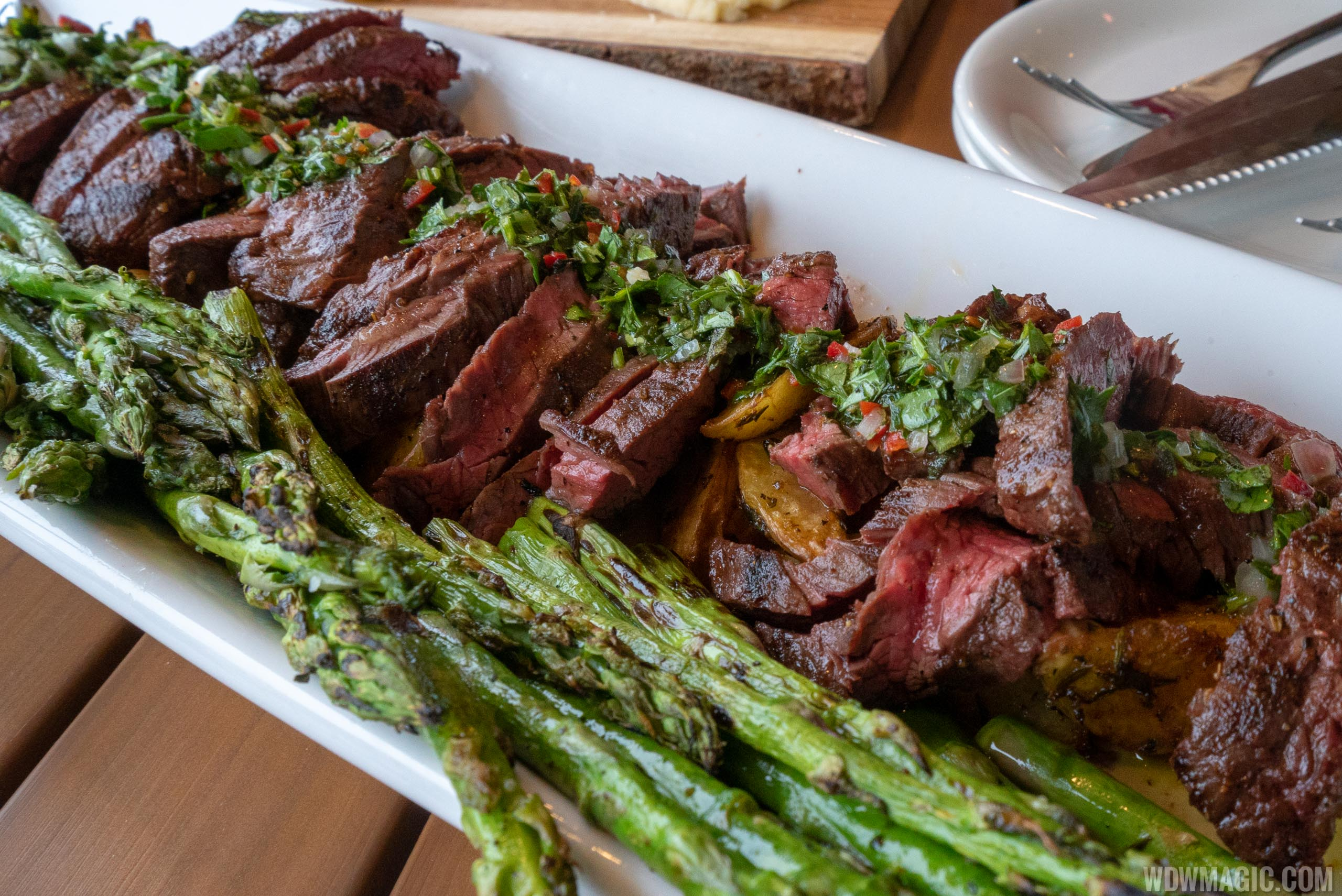 Wine Bar George - Skirt Steak family style plate $59