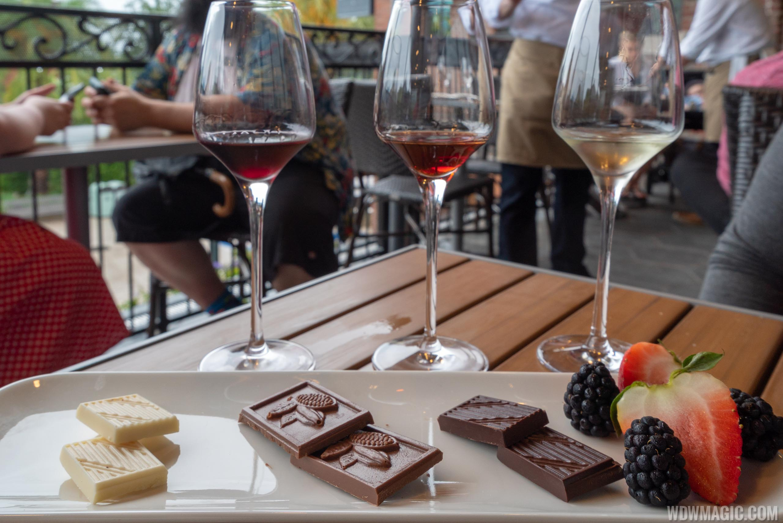 Wine Bar George - The Chocolate Experience with 3 1oz wine pairings $22