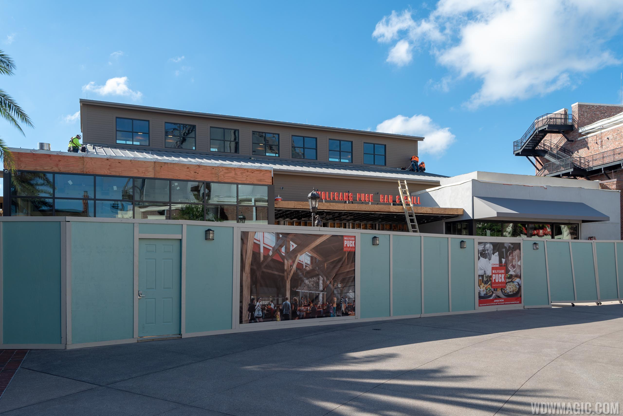 Wolfgang Puck Bar and Grill construction - October 2018