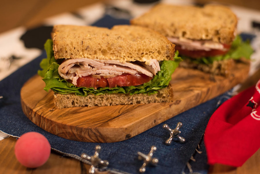 Woody's Lunch Box - Smoked Turkey, Tomato and Lettuce on Multigrain Bread $9.99