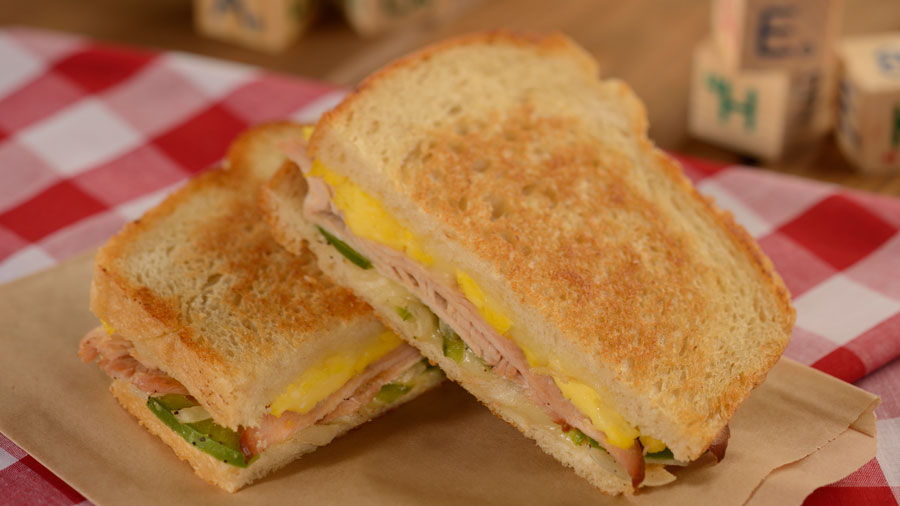 Woody's Lunch Box - Smoked Turkey, Eggs, Swiss, Peppers and Onions on Sourdough