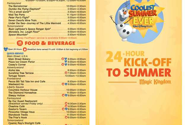 Coolest Summer Ever 24 hour Guide Map