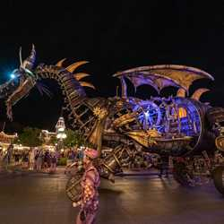 Maleficent at night during Disney Villains After Hours