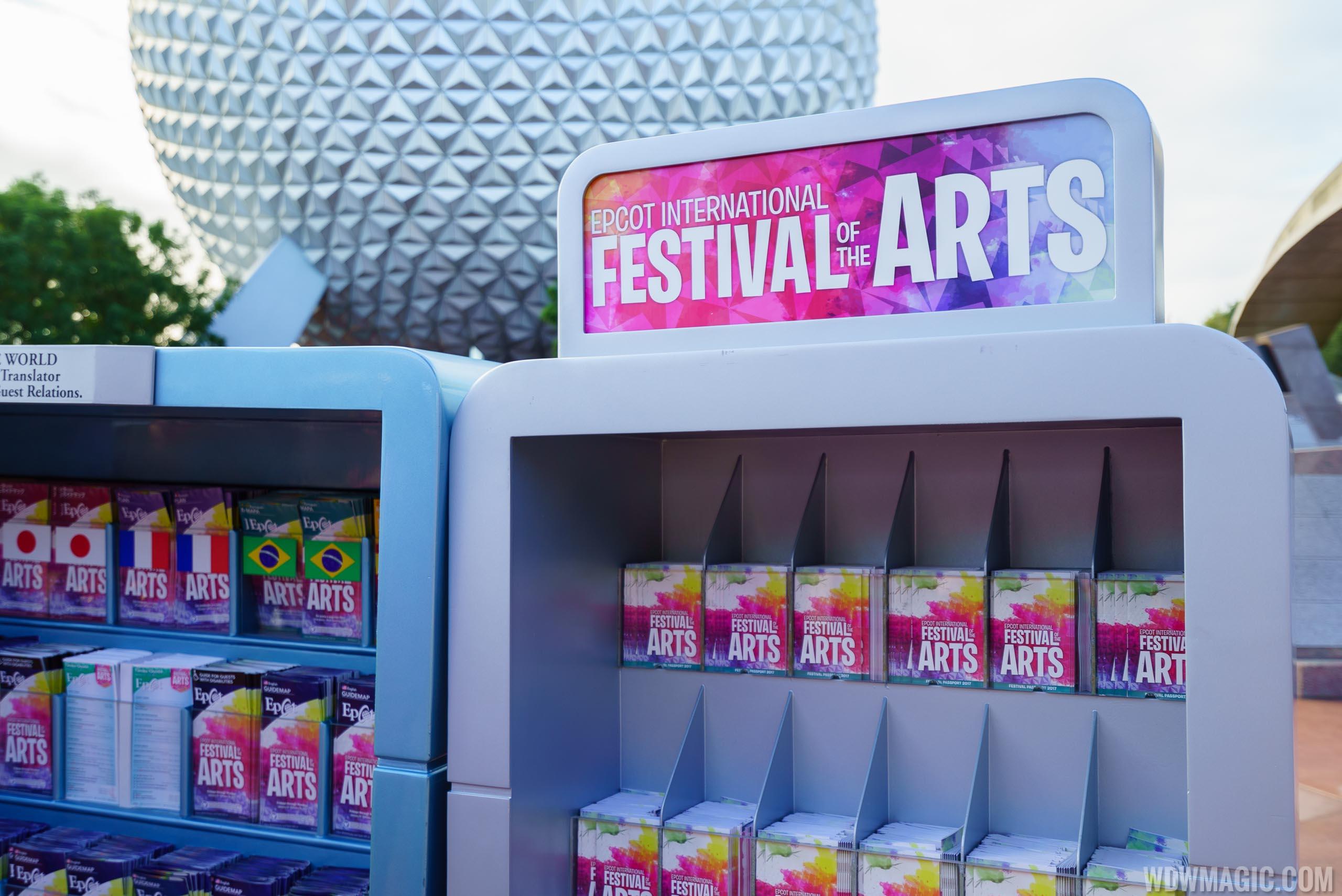 Walt Disney World Epcot Festival Of The Arts Guide Map Passport 2018