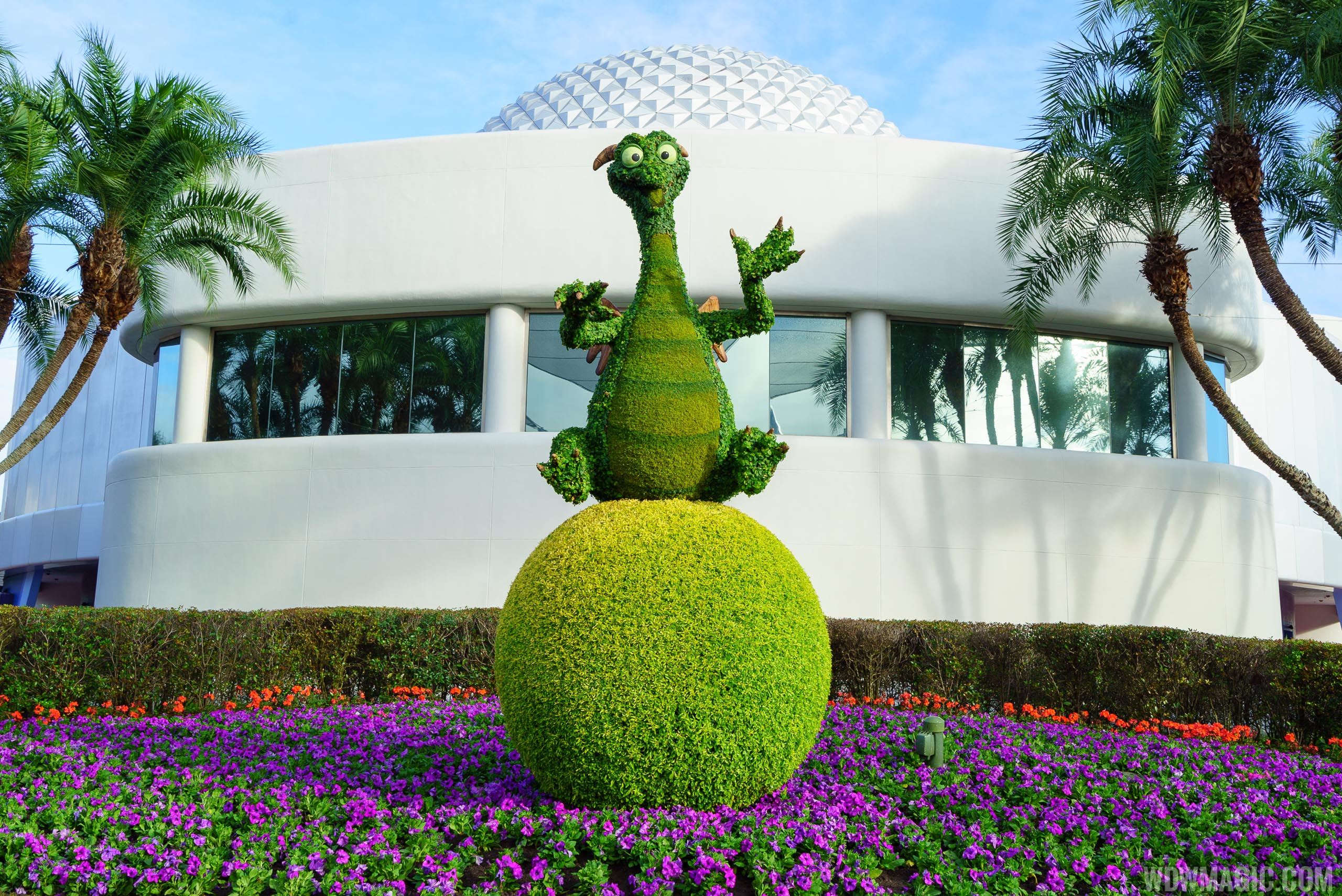 Epcot Festival of the Arts - Figment Topiary