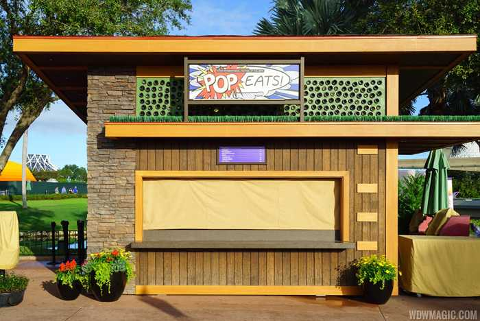 Epcot Festival of the Arts Food Studio kiosks and menus
