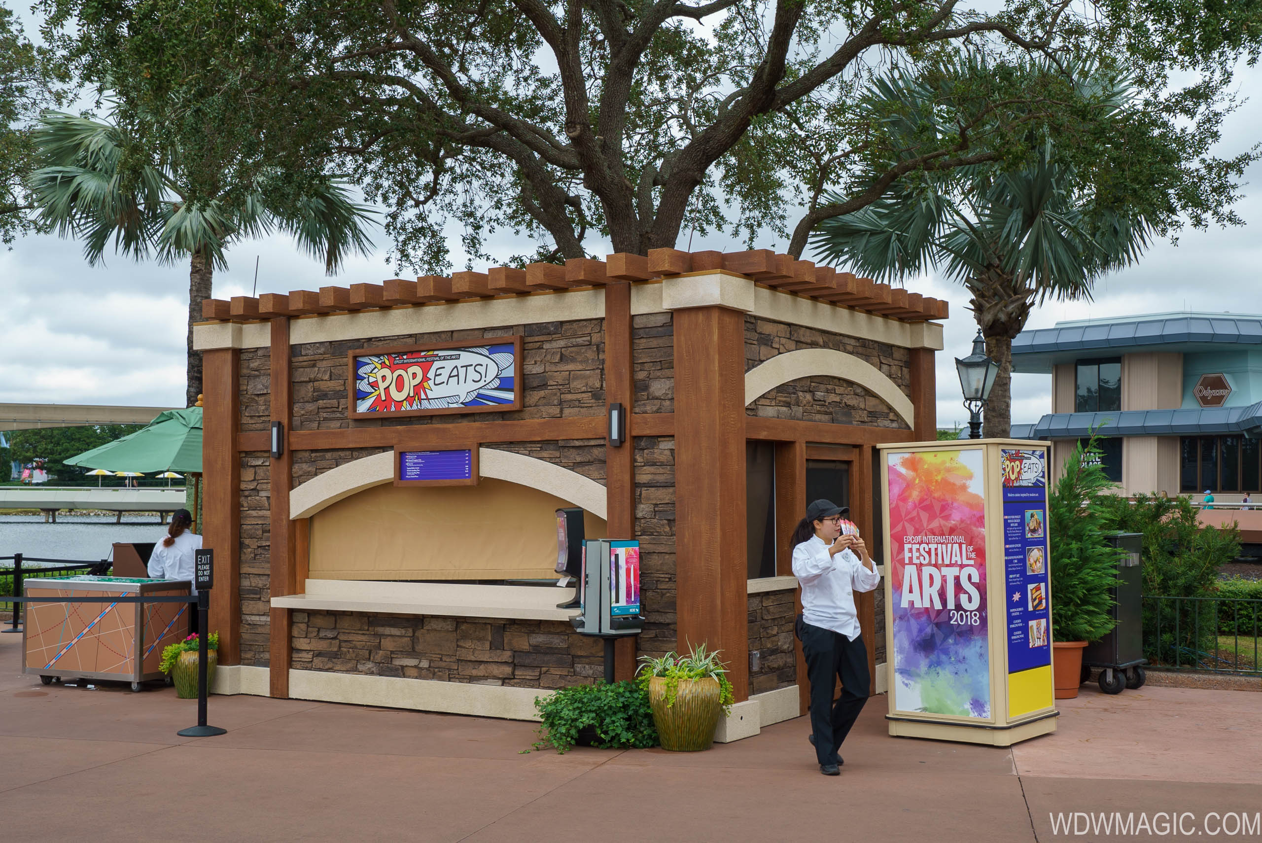 2018 Epcot Festival of the Arts Food Studio kiosks and menus