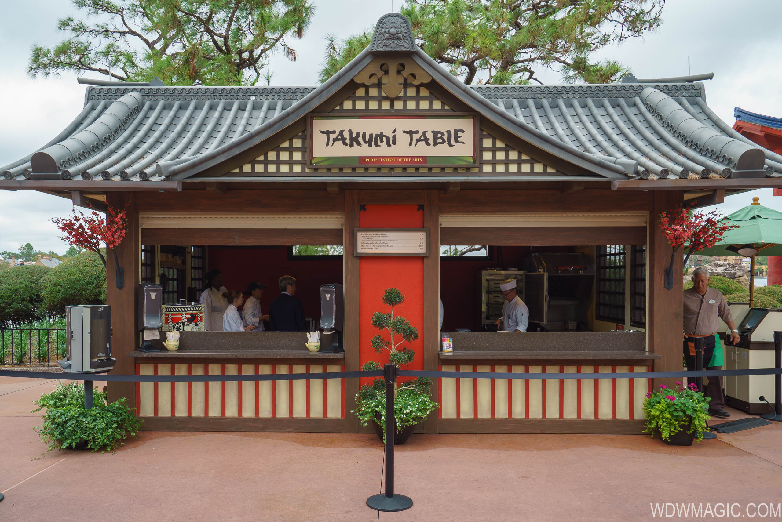 2018 Epcot Festival of the Arts Food Studio kiosks and menus
