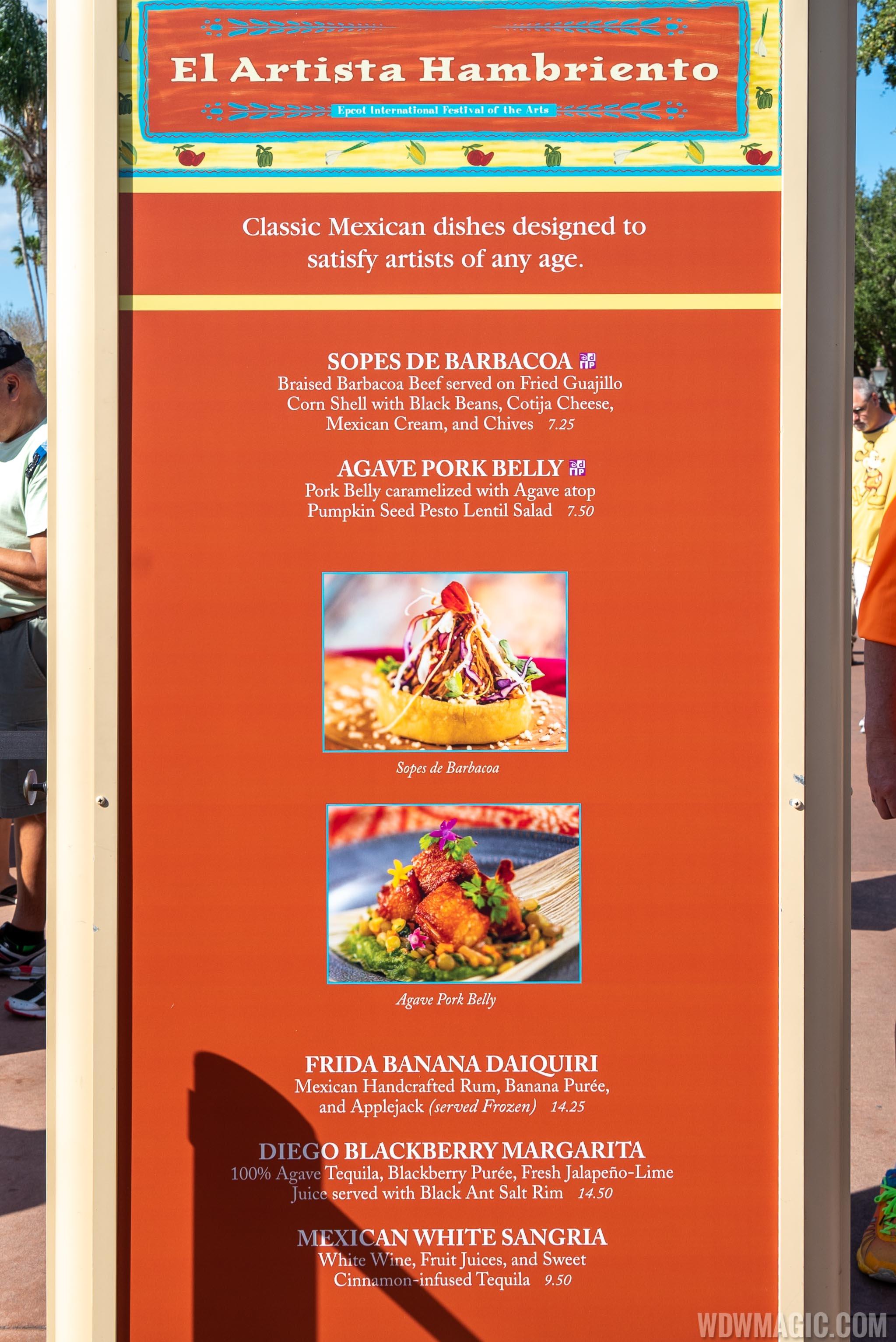 2020 Epcot Festival Of The Arts Food Studio Kiosks And Menus Photo 20 Of 24