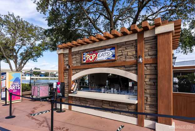 2021 Taste of the Epcot International Festival of the Arts Food Studios kiosks and menus