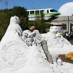 Completed Disney Nature sand sculpture