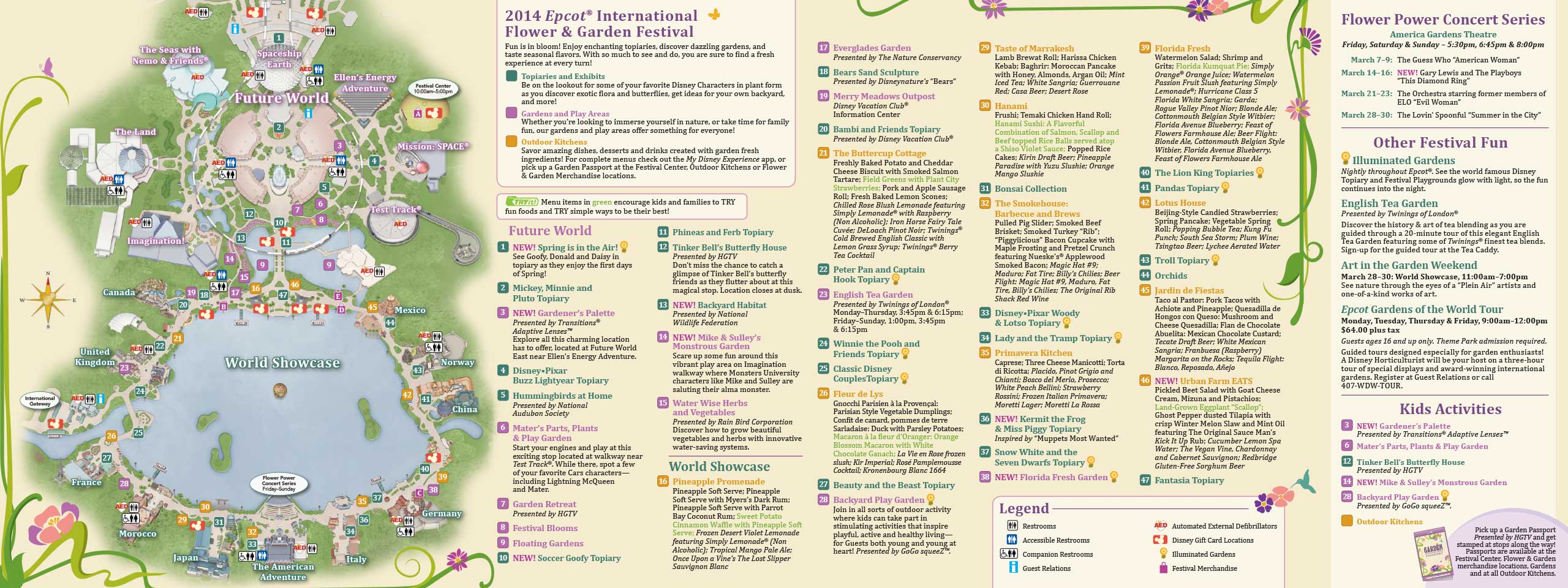 2014 Epcot Flower and Garden Festival guide map - Photo 1 of 2