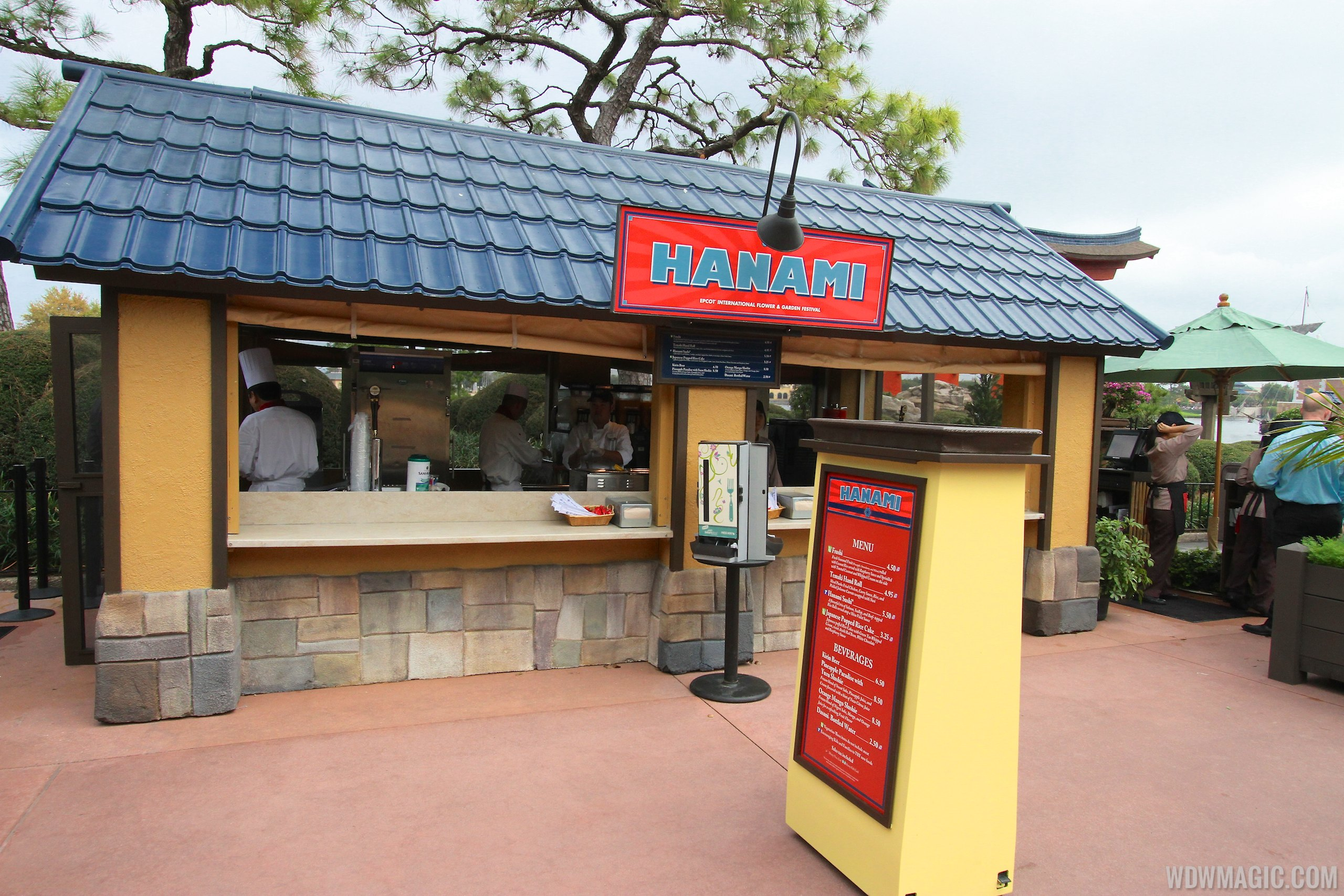 2014 Epcot Flower and Garden Festival Outdoor Kitchen kiosks and menus