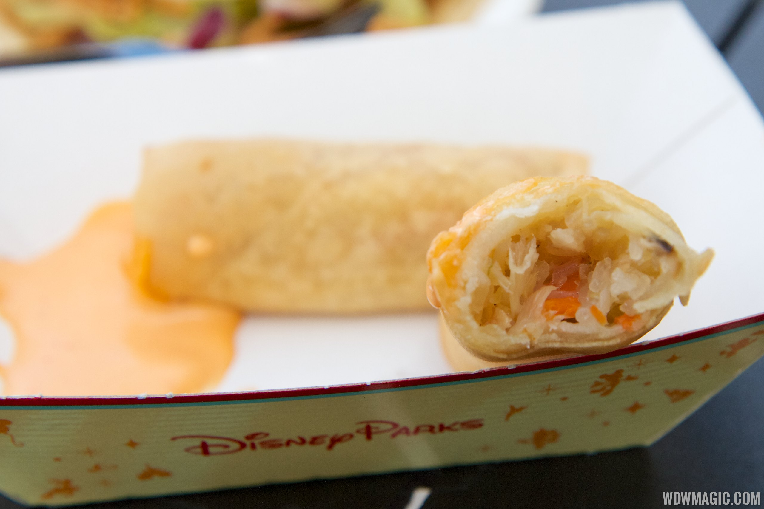 2014 Epcot Flower and Garden Festival Outdoor Kitchen kiosk - Lotus House China - Vegetable Spring Rolls $4.25