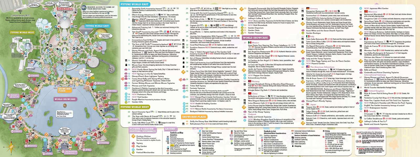 2015 epcot flower and garden festival guide map - photo 2 of 2
