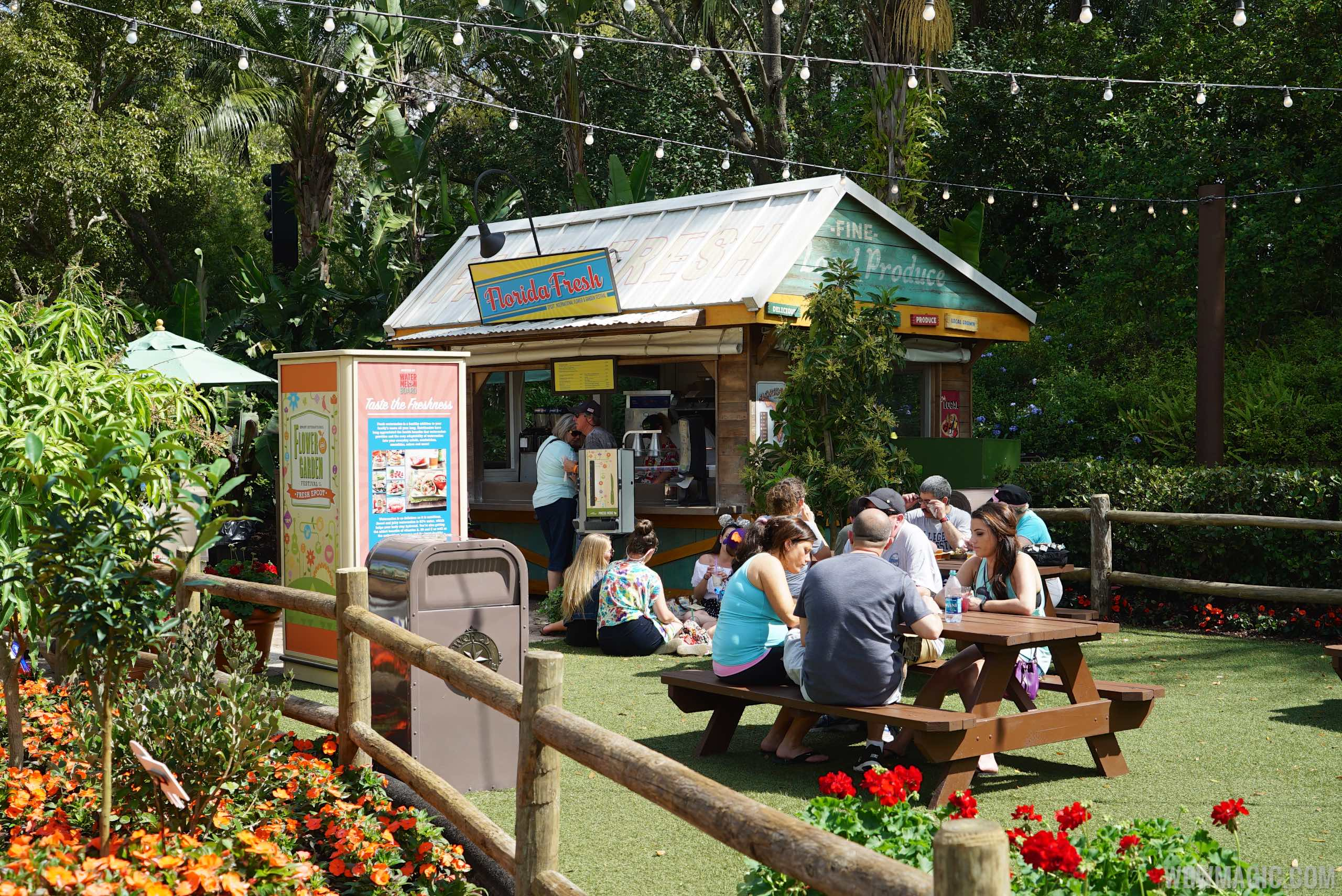 2015 Epcot Flower and Garden Festival Outdoor Kitchen - Florida Fresh kiosk