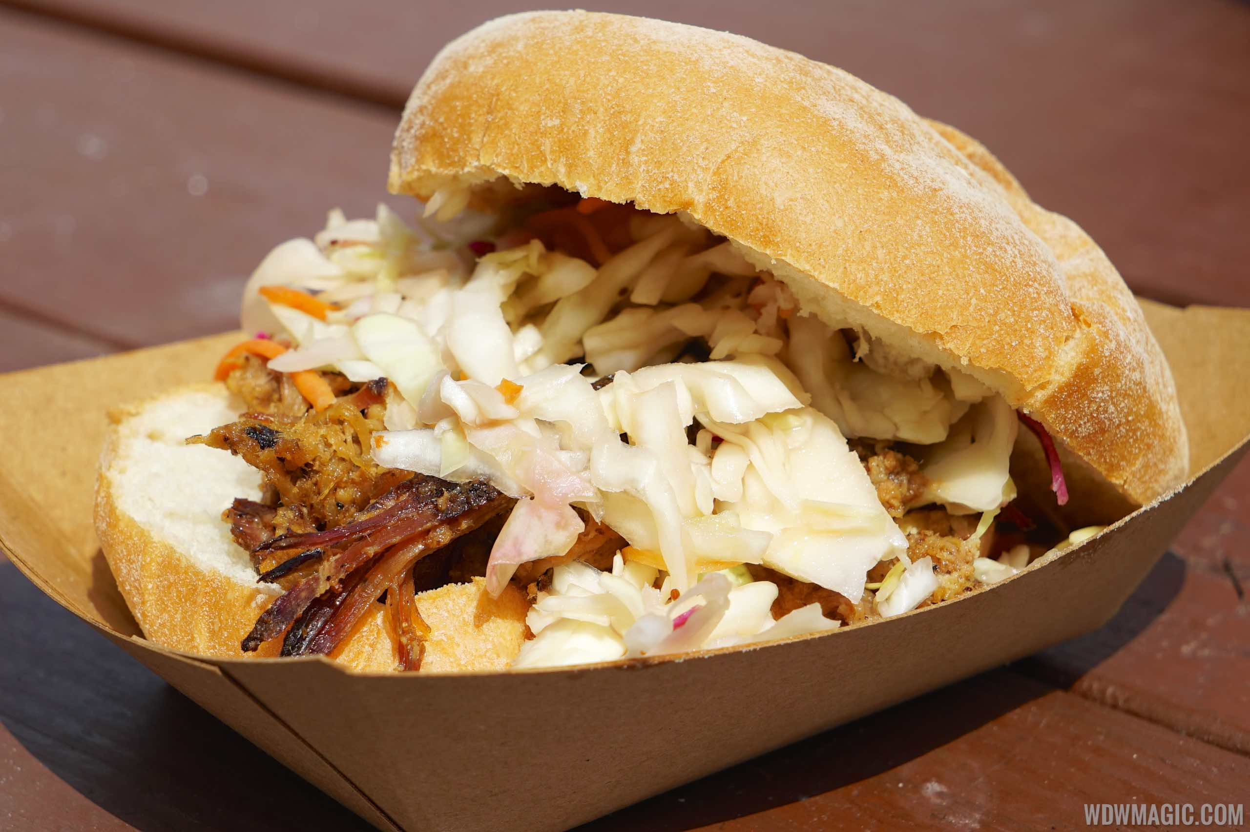 2015 Epcot Flower and Garden Festival Outdoor Kitchen -The Smokehouse - Pulled Pig Slider