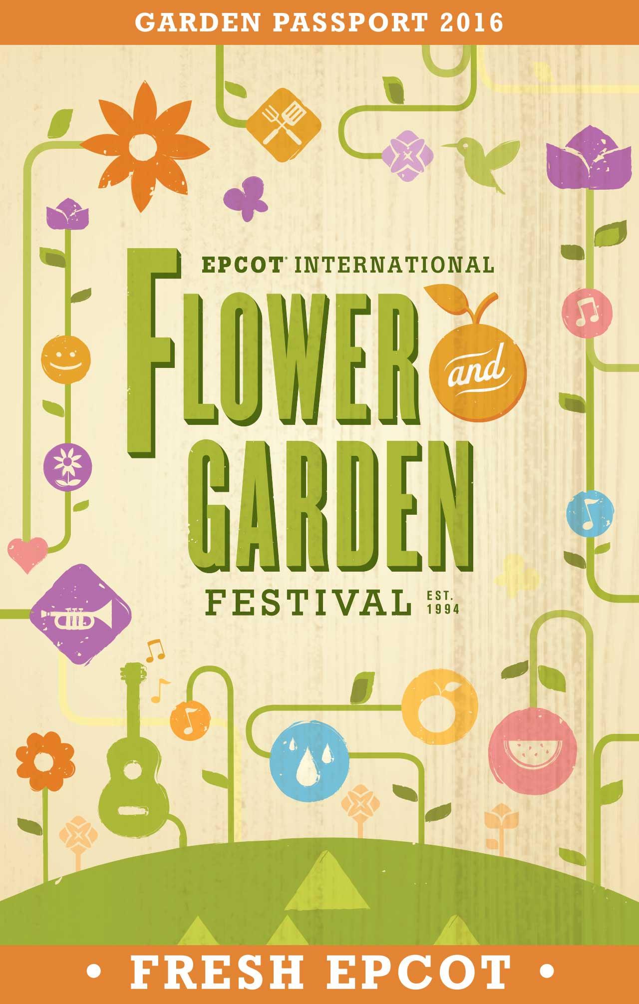 2016 epcot flower and garden festival passport - photo 1 of 15