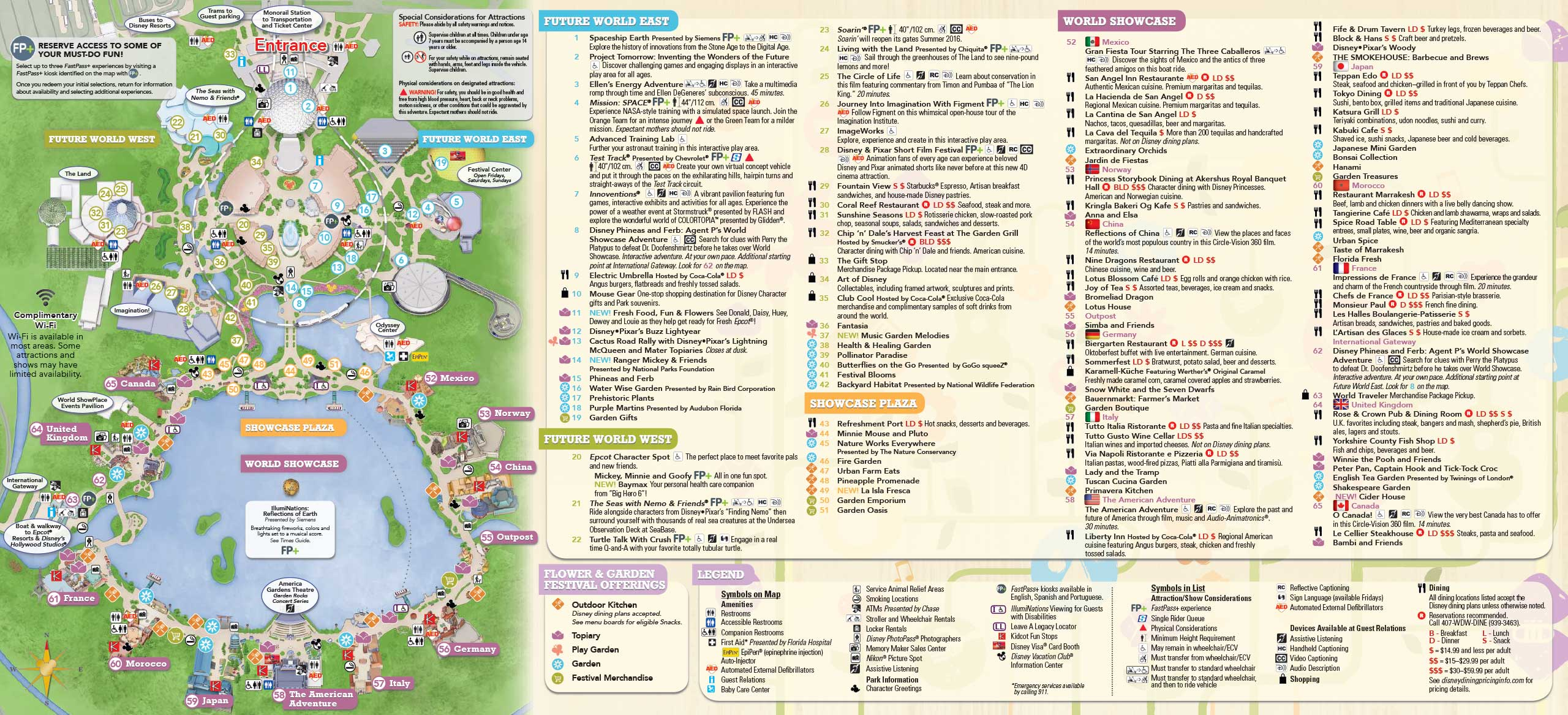 2016 Epcot Flower and Garden Festival Guidemap