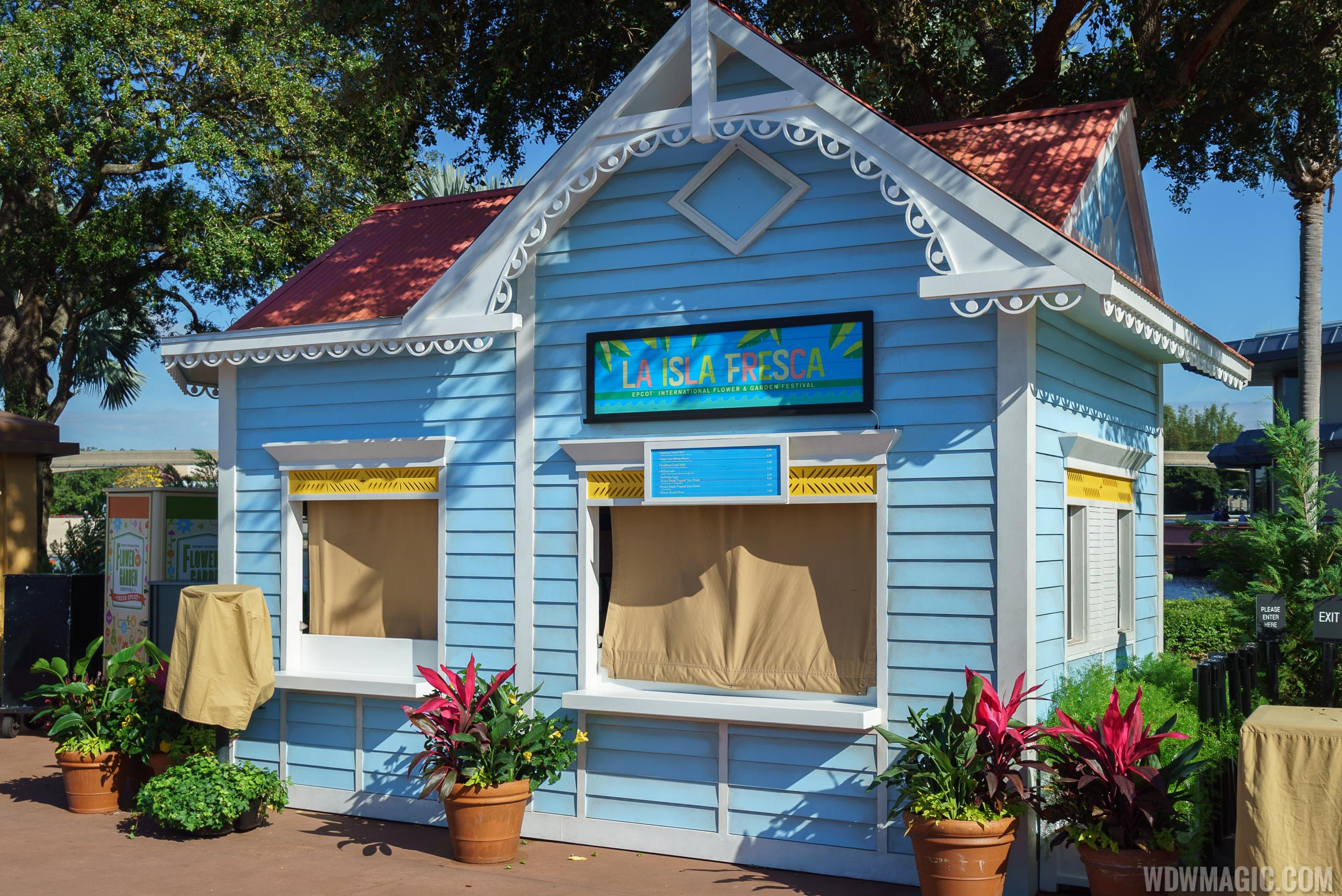 2017 Epcot Flower and Garden Festival Outdoor Kitchen kiosks and menus
