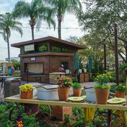 2018 Epcot Flower and Garden Festival Outdoor Kitchen kiosks and menus