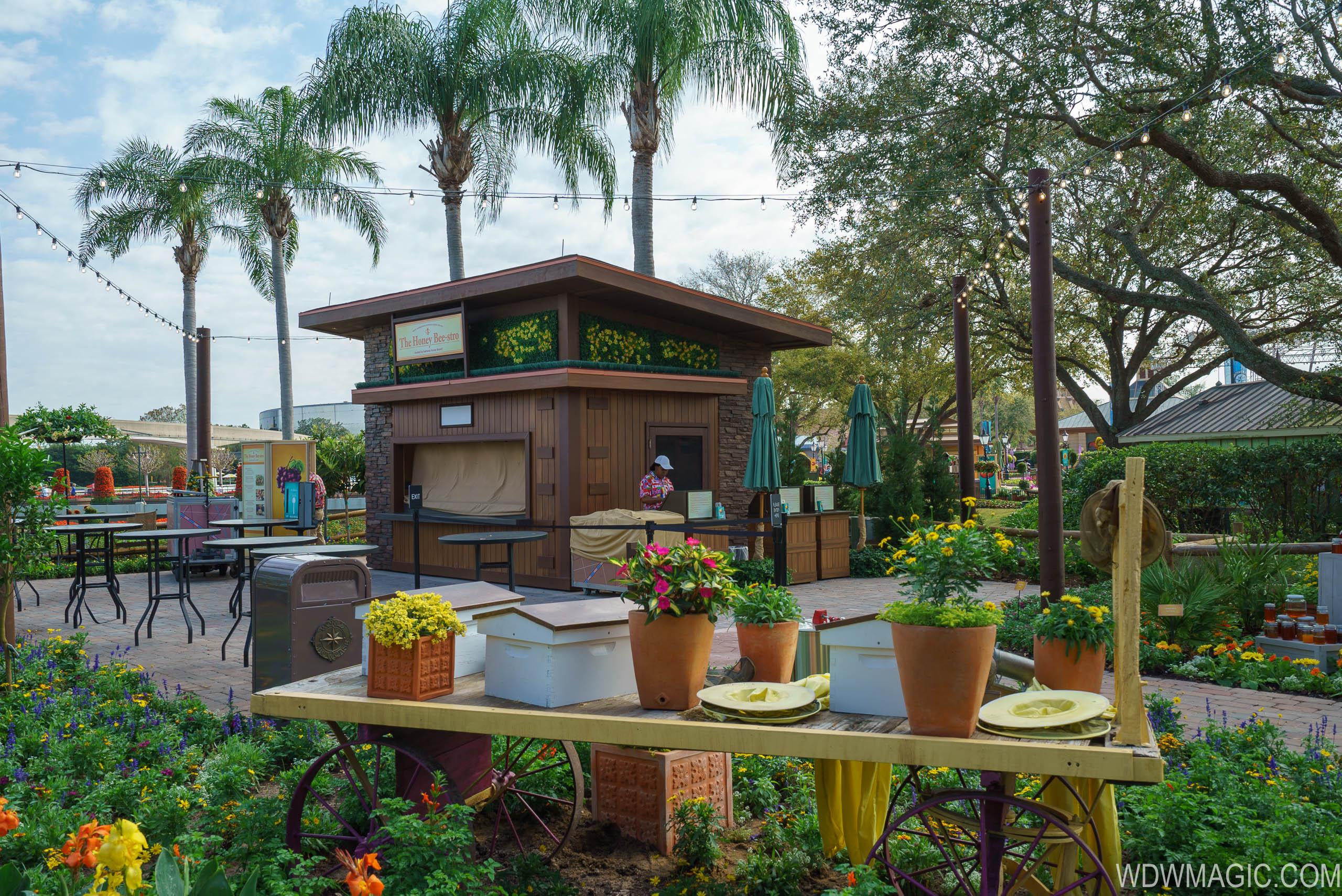 2018 Epcot Flower and Garden Festival Outdoor Kitchen kiosks and menus