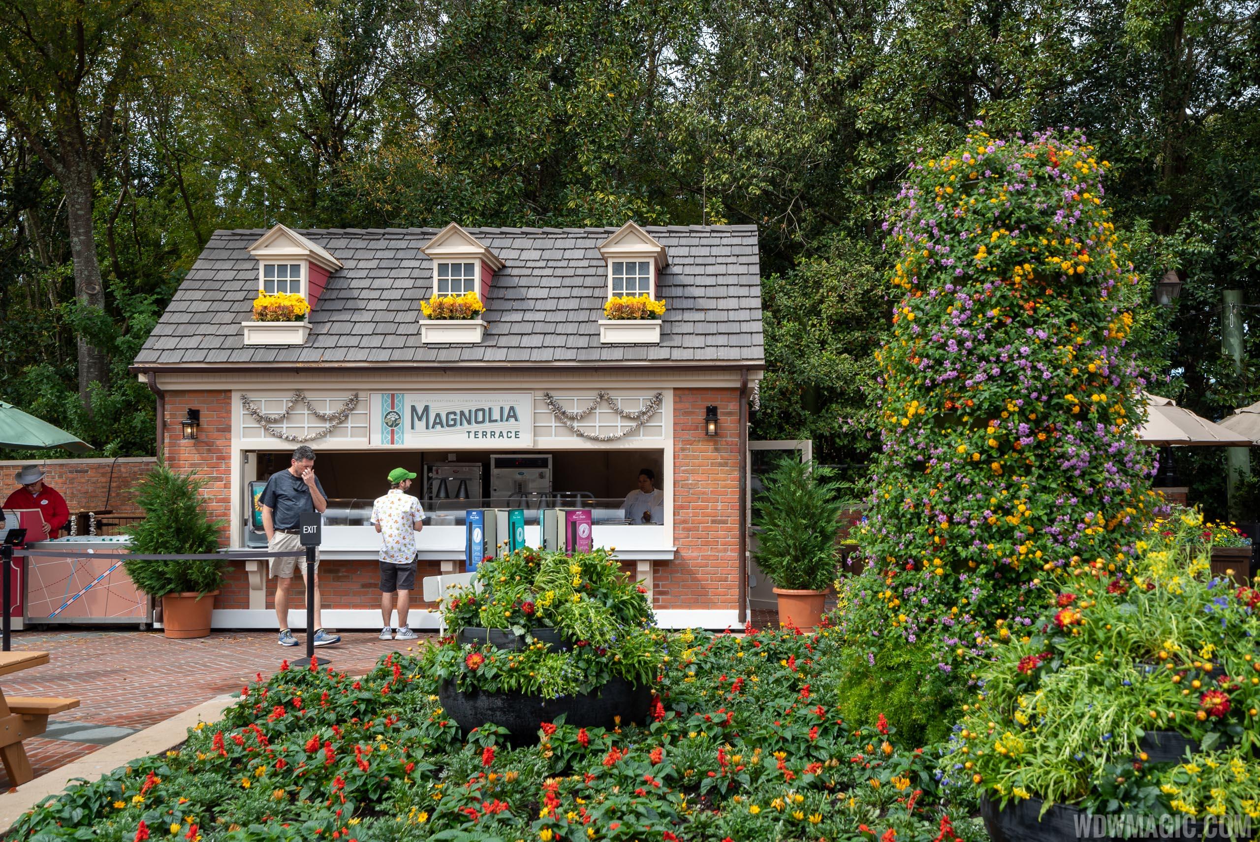 2020 Epcot Flower and Garden Festival Outdoor Kitchen kiosks - Magnolia Terra
