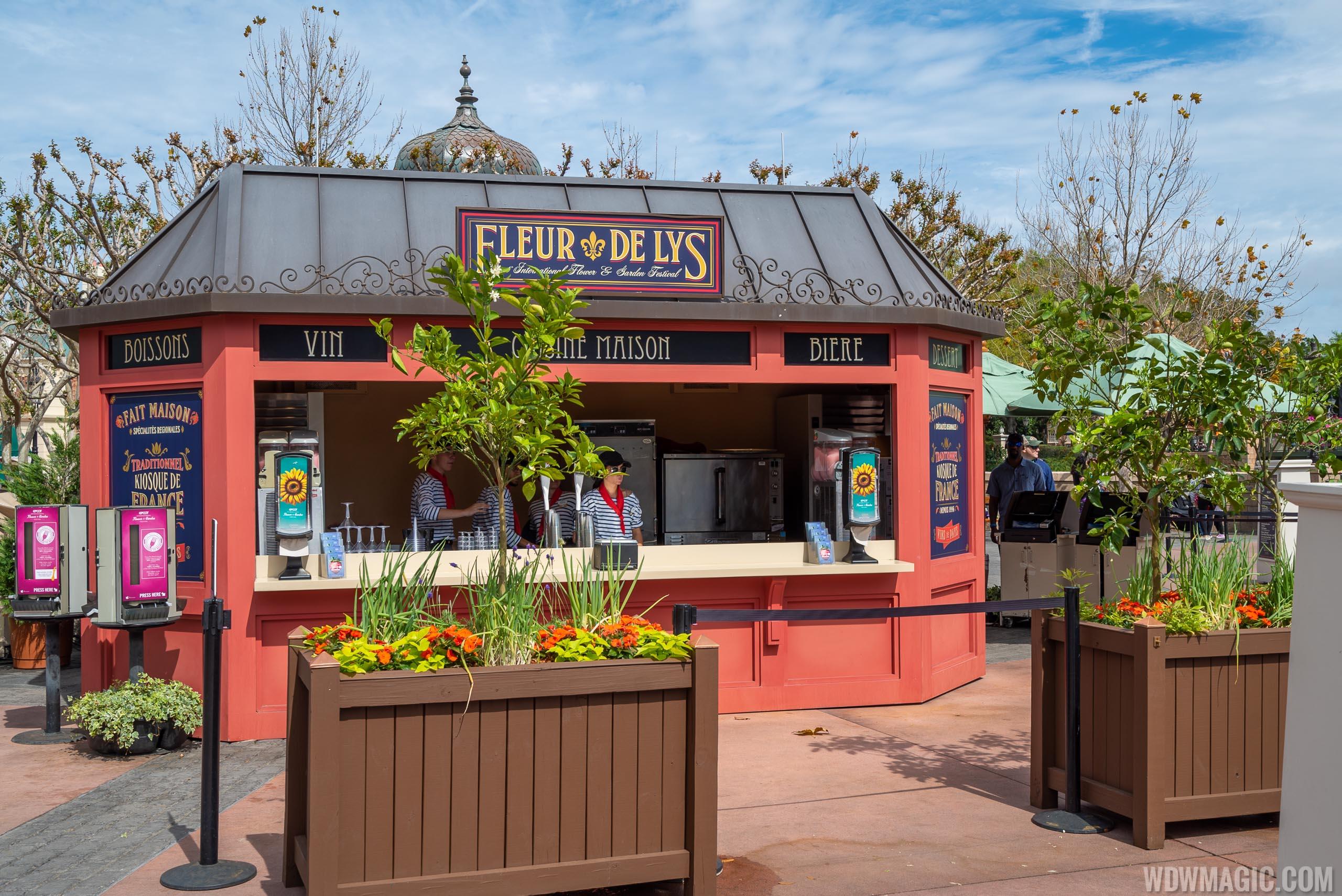 2020 Epcot Flower and Garden Festival Outdoor Kitchen kiosks - Fleur De Lys