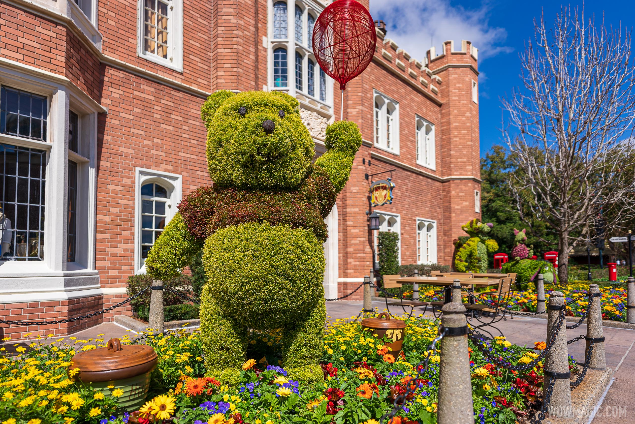 Winnie the Pooh and Friends (Rabbit, Eeyore, Piglet and Tigger) – United Kingdom Pavilion