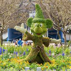 2021 Taste of EPCOT International Flower and Garden Festival topiary and gardens