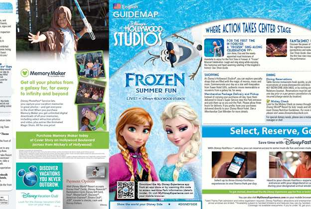 Frozen Summer Fun 2015 Guide Map and Times Guide
