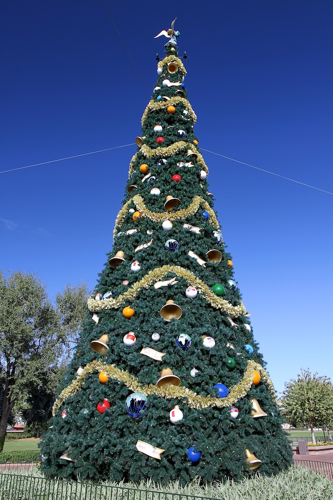 Photos New Improved Epcot Christmas Tree Now On Display