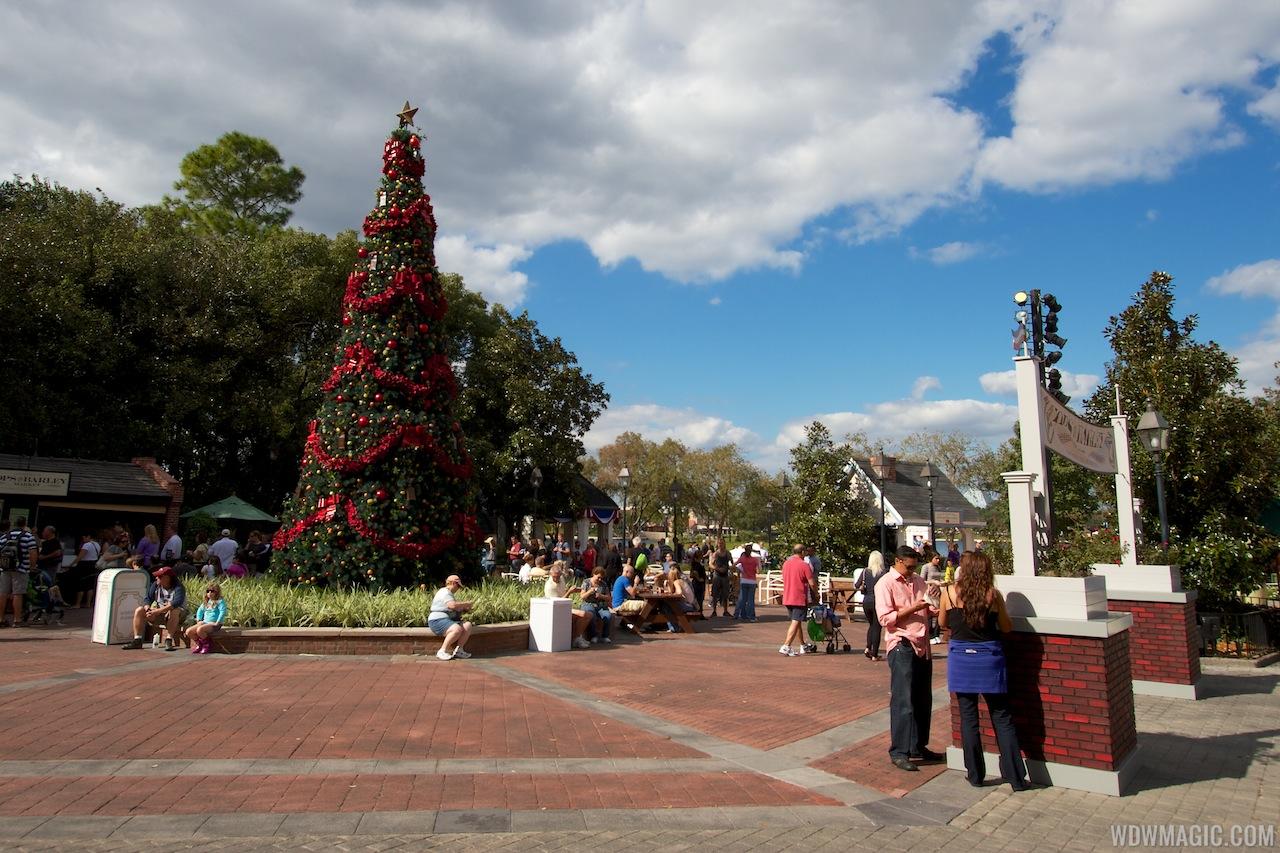 Epcot 2012 Christmas Trees
